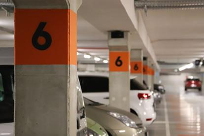 Shopping Les bastions - Peinture parking - My Colors - Portfolio