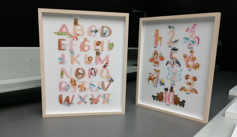 impression cadre decoration murale personnalisee bruxelles belgique my colors alphabet numerique